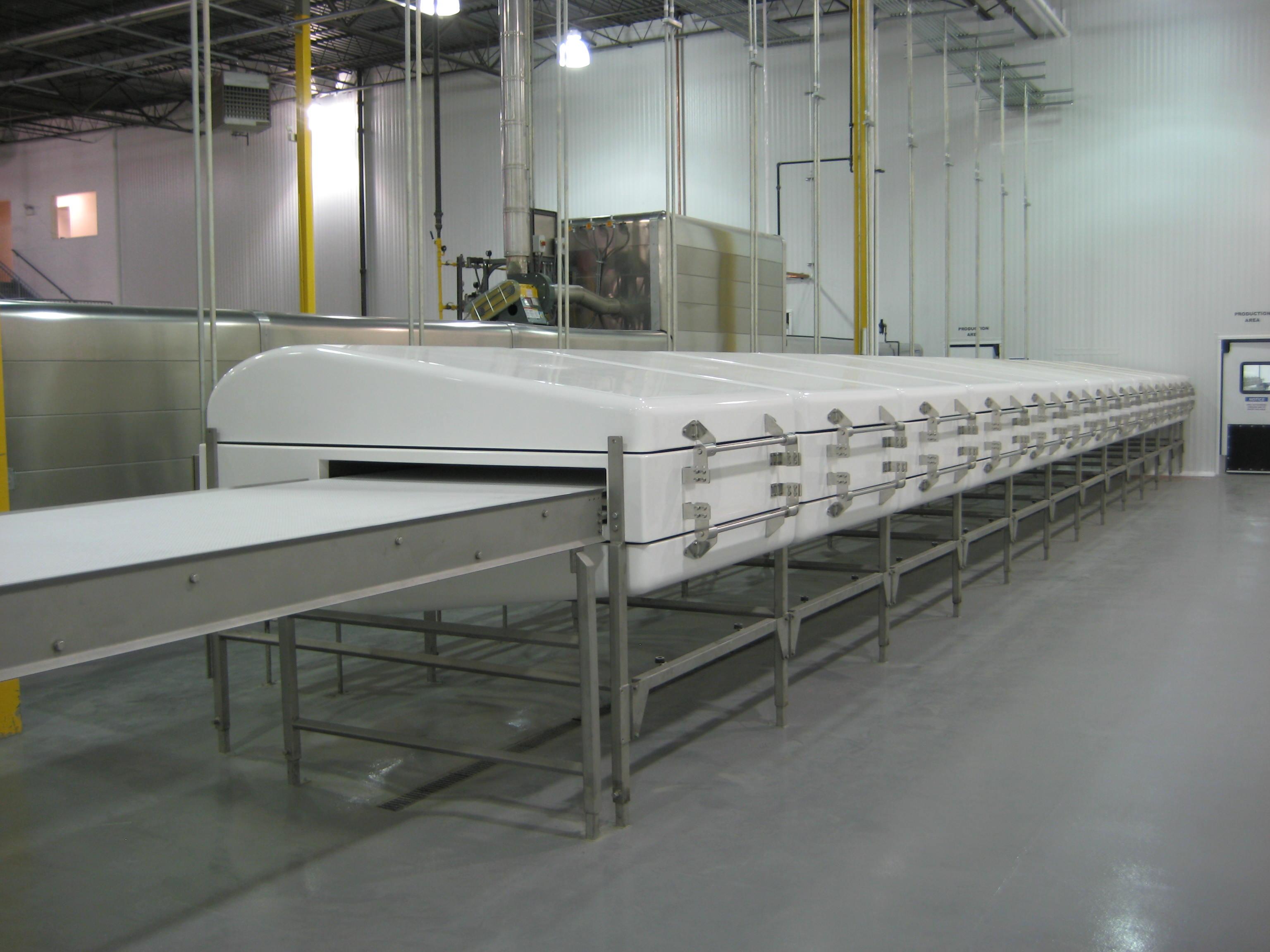 fiberglass cooling tunnels