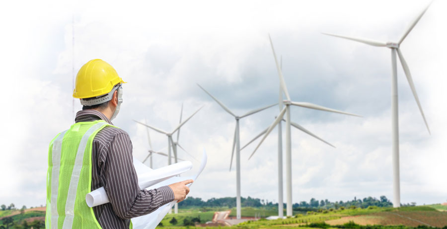 construction of wind mill farm for wind energy
